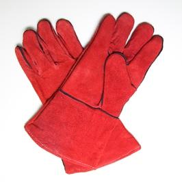 Краги спилковые красные