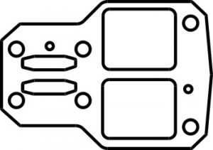 Прокладка C415M.01.00.803 белая (ТФЭ 0,3мм)
