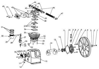 Уcтройство компрессорной головки LB-40